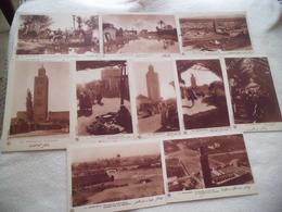 LOT DE 10 CARTES (CPA) MARRAKECH ..MAROC - 5 - 99 Postcards