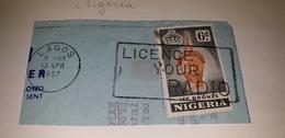 NIGERIA 1957 LICENCE YOUR RADIO Telecom Cancel Cancellation - Telecom