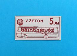 BOSNAPREVOZ MAGLAJ -  Old Bus Ticket 5 DM ( Bosnia And Herzegovina ) * Autobus Billet Biglieto Billete - Abonnements Hebdomadaires & Mensuels