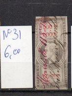 DT175T FRANCE 1 TIMBRES OBL FISCAL FISCAUX REVENUE REVENUES EFFETS COMMERCE N°31 NAPOLEON III - Revenue Stamps