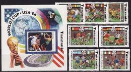 Tanzania, 1994, FIFA World Cup, 7stamps + Block - Coupe Du Monde