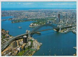 SYDNEY   AERIAL  VIEW  OF  SYDNEY     HARBOUR             (VIAGGIATA) - Sydney