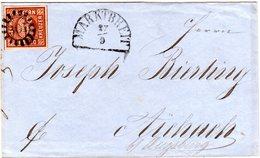 Bayern 1861, Allseits Breitrandige 6 Kr. Auf Brief M. Klarem MR 301 MARKTBREIT - Bayern