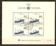 Cept 1988 Portugal Madère Madeira Yvertn° Bloc 9 (°) Used Cote 11,00 Euro - Europa-CEPT