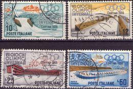 REPUBBLICA 1956 - OLIMPIADE, GIOCHI OLIMPICI INVERNALI - SERIE COMPLETA USATA - 1946-60: Usati