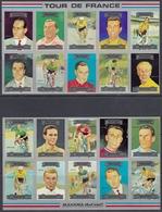 Ajman-Manama 1972 - Tour De France, Professional Cyclists - Mi 1175 B-1194 B (imperforate) ** MNH - Cyclisme