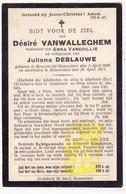 DP Désiré VanWalleghem ° Beveren Roeselare 1836 † 1911 X A. VanCoillie Xx J. DeBlauwe - Images Religieuses