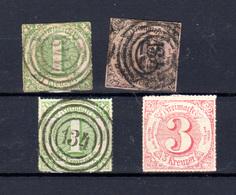 1859-65  Allemagne Tour Et Taxis 1859-65, Entre 36 Et 46 Ob, Cote 80 € - Tour Et Taxis