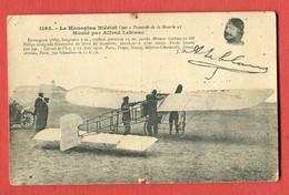CPA Le Monoplan BLERIOT - Monté Par ALFRED LEBLANC - Aviateurs