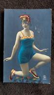CPA FANTAISIE FEMME MAILLOT DE BAIN POSE TRES ART DECO PC 2120 PARIS - Femmes