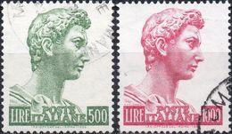 REPUBBLICA 1957 - SAN GIORGIO DI DONATELLO - SERIE COMPLETA USATA - 1946-60: Usati