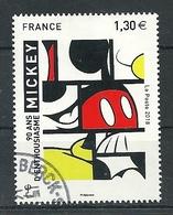 FRANCIA 2018 - 90 Ans De Mickey A France - Cachet Rond - France