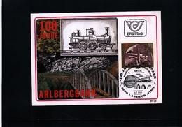 Oesterreich / Austria 1984 100 Years Of Arlbergbahn Maximumcard - Trains