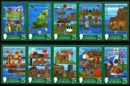 Guernsey Guernesey 1998 Yvertn° 769-78 *** MNH Cote 12,50 Euro - Guernesey