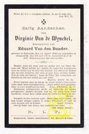 DP Virginie Van De Wynckel ° Ertvelde Evergem 1846 † Bassevelde Assenede 1914 X Eduard Van Den Bunder - Images Religieuses