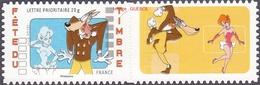 France N° 4151 A ** Ou 162A Autoadhésif - J. Du Timbre 2008 - Tex Avery - Le Loup, Logo Personnalisé - France