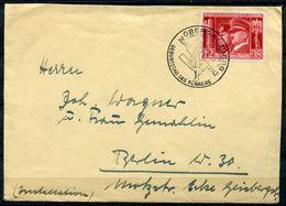 """German Empires 1941Bedarfsbrief/Cover Mit Mi.Nr.763 U.SST""""Obersalzberg-Geburtstag Des F""""1 Beleg - Deutschland"""