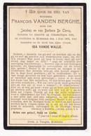 DP François Vanden Berghe / De Clercq ° Ardooie 1835 † Rumbeke Roeselare 1907 X Ida Vande Walle - Images Religieuses