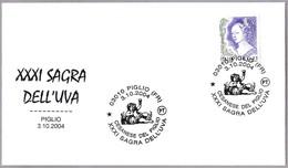 31 FERIA DE LA UVA - 31 Grape Fest. VINO - WINE. Piglio, Frosinone, 2004 - Vinos Y Alcoholes