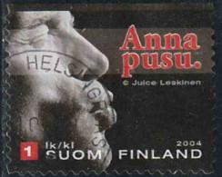"""Finlande 2004 Yv. N°1653 - Timbres De Salutations Amicales - """"Un Baiser"""" - Oblitéré - Finlandia"""