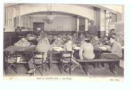 78 Ecole De Saint Cyr Cpa Carte Animée Soldat Militaire Edit ND N°28 En étude - St. Cyr L'Ecole