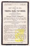 DP Virginia M. Van Bossel ° Westkerke Oudenburg 1840 † 1910 X Leopold Kemel Xx Edw. Pierloot - Images Religieuses