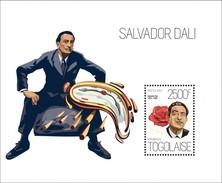 TOGO 2013 SHEET SALVADOR DALI ART PAINTINGS ARTE PINTURAS Tg13621b - Togo (1960-...)