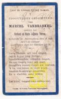 DP Marcel VanBraekel / Terras ° Zwevegem 1911 † 1918 - Images Religieuses