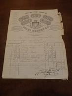 DITTA SOLEI HEBERT & C. FABBRICA GENERI PER MOBILIO-PAERMO CORSO VITTORIO EMANUELE-ANNO 1882 - Italie