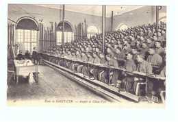 78 Ecole De Saint Cyr Cpa Carte Animée Soldat Militaire Edit ND N°46 Amphi De Chien Vert - St. Cyr L'Ecole