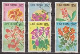 Flore, Fleurs - GUINEE BISSAU - Bougainvillée, Euphorbe, Hibiscus - N° 217 à 222 - 1984 - Guinée-Bissau