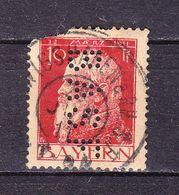 Koenig, Perfin Firmenlochung, BASF Ludwigshafen, Entwertet 1911 (69855) - Bayern