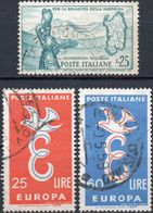 REPUBBLICA 1958 - RINASCITA SARDEGNA, FLUMENDOSA MULARGIA + EUROPA - 2 SERIE COMPLETE USATE - 1946-60: Usati