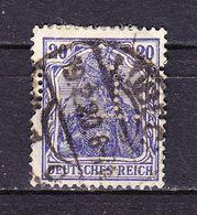 Germania, Perfin Firmenlochung, CL: Lassen + Co Reederei Luebeck, Entwertet 1920 (69856) - Deutschland