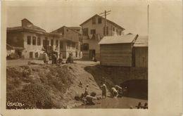CPA Real Photo Postcard USKUB SKOPJE Washing Woman MACEDONIA SERBIA (709036) - Macédoine
