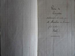 ARDÈCHE- VALS-LES-BAINS- CARNET AVEC COMPTES LORS DE LA CONSTRUCTION ET DE L'AMÉNAGEMENT D'UNE MAISON EN 1875 - Manuscrits