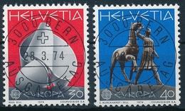 Schweiz / Suisse 556-557 / 1029-1030 Serie Mit ET-Vollstempel & Gummi - Europa-CEPT