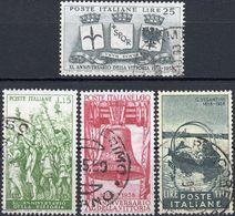 REPUBBLICA 1958 - ANNIVERSARIO DELLA VITTORIA + GIOVANNI SEGANTINI - 2 SERIE COMPLETE USATE - 1946-60: Usati