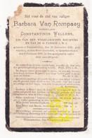 DP Barbara Van Rompaey ° Tessenderlo 1831 † Kwaadmechelen Ham 1911 X Const. Wellens - Images Religieuses
