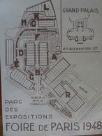 BILLET D'ENTRÉE À LA FOIRE DE PARIS 1948 AU GRAND PALAIS - Tickets D'entrée