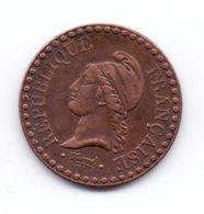 1 Centime Dupré IIème République 1848 A - A. 1 Centime