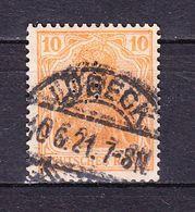 Germania, Perfin Firmenlochung, B: FH Bertling Luebeck, Entwertet 1921 (69857) - Deutschland
