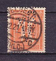 Ziffer, Perfin Firmenlochung, VBV: Stanley Works Velbert, Entwertet 1921 (69859) - Deutschland
