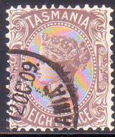 TASMANIA AUSTRALIA 1907 SG #255 8d Used Perf. 12½ CV £23 - 1853-1912 Tasmania