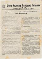 MILITARI - VOLANTINO, MANIFESTO - UNIONE NAZIONALE PROTEZIONE ANTIAEREA - COMANDO PROV. DI VARESE - 1942 - Vedi Retro - Documenti