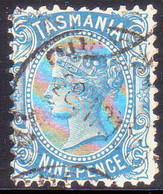 TASMANIA AUSTRALIA 1907 SG #256a 9d Used Perf. 11 - 1853-1912 Tasmania