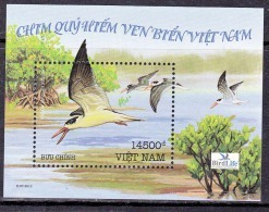 Vietnam Birds Of Coastal Region Set + Souv. Sheet Mint NH VF - Vietnam