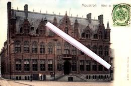 MOUSCRON - Hôtel De Ville - Carte Colorée - Moeskroen