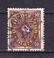 Posthorn, Perfin Firmenlochung, NVM: Vertriebs-Ges Baumwoll-Naehfaden-Fabriken Muenchen, Entwertet 1923 (69863) - Deutschland