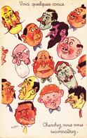 """CPSM Voici Quelques Têtes De Cocus Cornard Cuckold """"Cherchez, Vous Vous Reconnaissez ?"""" Humour Illustrateur BRIDOU - Künstlerkarten"""